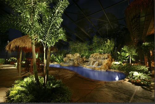 Adding landscape lighting to your outdoor space will help create the perfect vibe for your next gathering.