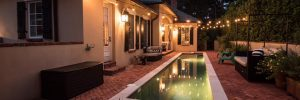 Outdoor Lighting by a Pool