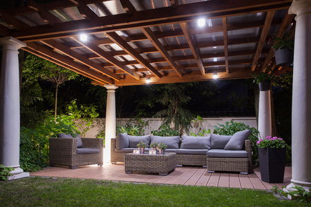 Outdoor Deck at Night