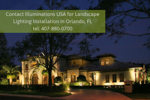 Landscape Lighting Installation in Orlando, FL