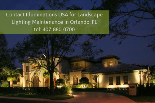 Landscape Lighting Maintenance in Orlando, FL
